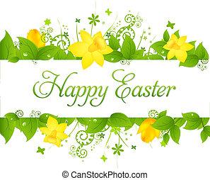 Happy Easter Background, Vector Illustration