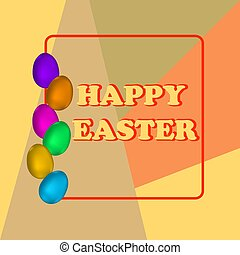 Happy Easter Background with colorful eggs for Your Design.