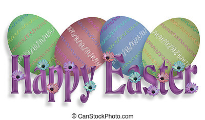 Happy Easter Border Graphic