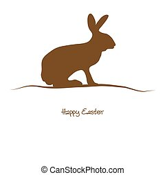 Happy Easter - brown silhouette