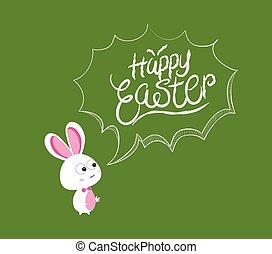 happy easter bubbles bunny