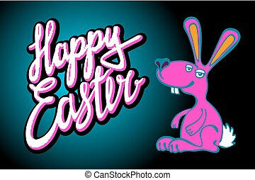 happy Easter Bunny card in vector format.