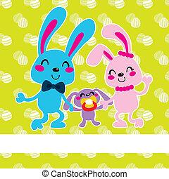 Happy Easter Bunny Family