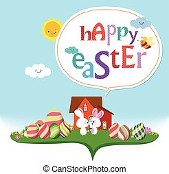 Happy easter. bunny funny