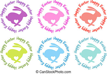 Happy Easter, bunny with heart