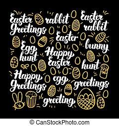 Happy Easter Calligraphy Design