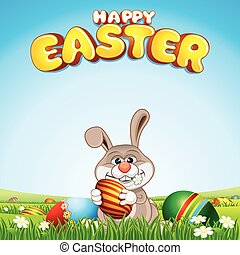 Happy Easter Card Background.