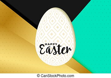 happy easter card in golden style design
