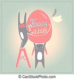 Happy Easter card in vector.