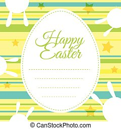 Happy Easter card template with colorful background