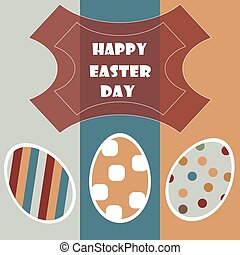 Happy Easter Card. vector illustration