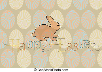 Happy Easter card with bunny