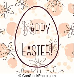 Happy Easter card with egg banner simple