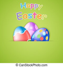 Happy Easter card with egg