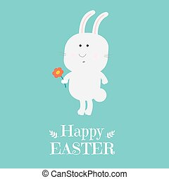 Happy Easter Card With Rabbit