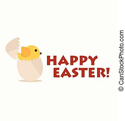 Happy easter cards. Vector illustration.