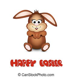 Happy easter cards with bunny.