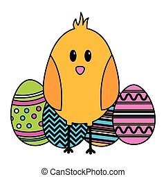 happy easter chick eggs