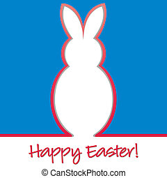 "Happy Easter - ""Happy Easter"" bright bunny cut out card in..."