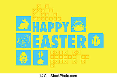 Happy Easter Collage Background