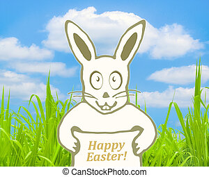 Happy Easter Concept Collage Design