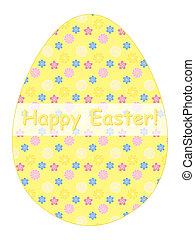 Happy Easter congratulation card