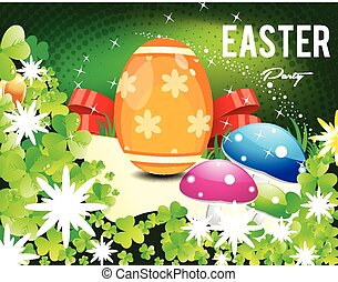 Happy Easter Day Background with