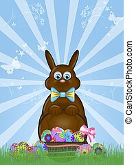 Happy Easter Day Chocolate Bunny Rabbit