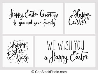 Happy Easter Day Simple Lettering S