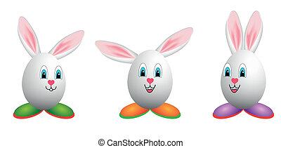 Happy easter egg mascots