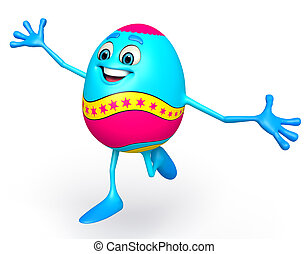 Happy Easter Egg - 3d rendered illustration of Happy Easter...