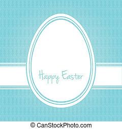 happy easter egg white