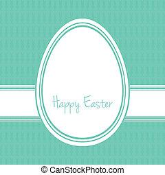 happy easter egg white green