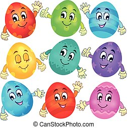 Happy Easter eggs collection 2 - eps10 vector illustration.