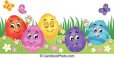 Happy Easter eggs theme
