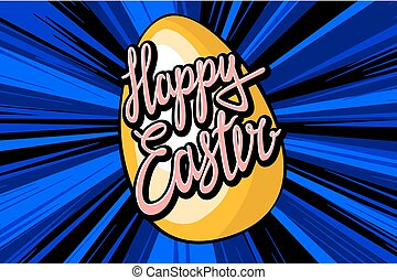 Happy easter everyone lettering for your design