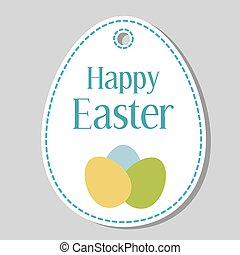 Happy easter vector gift tag templa happy easter gift tag happy easter gift tag illustration negle Images