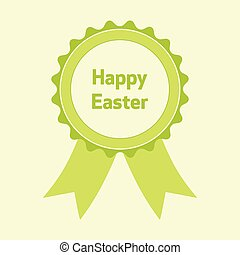 Happy Easter green badge