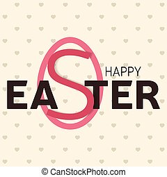 Happy Easter greeting card. Vector illustration.