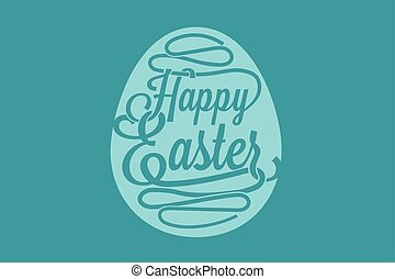 Happy easter greetings card with colorful eggs drawn by clip art happy easter greeting card m4hsunfo