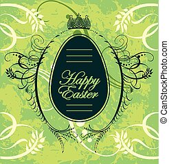 Happy Easter greeting card with egg