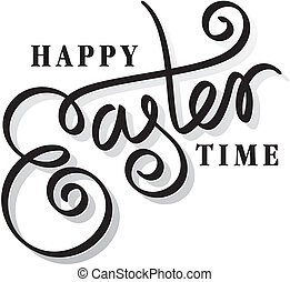 happy easter hand lettering