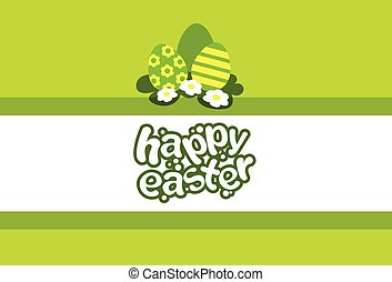 Happy Easter Holiday Banner With Eggs