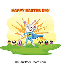 Happy Easter holiday celebration background