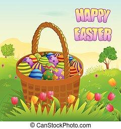 Happy Easter holiday celebration