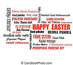 Happy Easter in different language