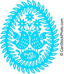 Happy Easter Laser cutting template for greeting cards - ...