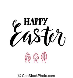Happy easter lettering print.