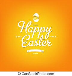 Happy Easter Orange Card