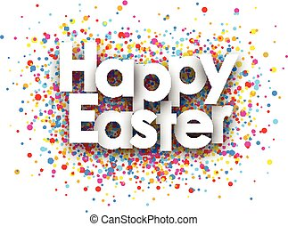 Happy easter paper card. - Happy easter paper card with...